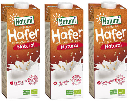 Haferdrink Natural 3er Produktbild