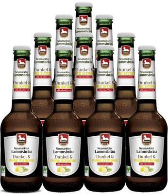 Lammsbräu Dunkel & Pure Zitrone Alkoholfrei 10er Produktbild