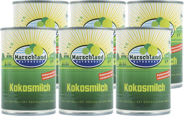 Kokosmilch 6er Produktbild