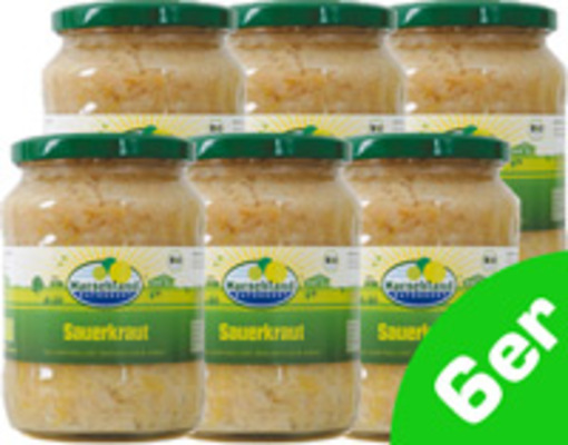 Sauerkraut 720ml 6er Produktbild