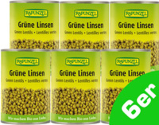 Grüne Linsen 6er Produktbild
